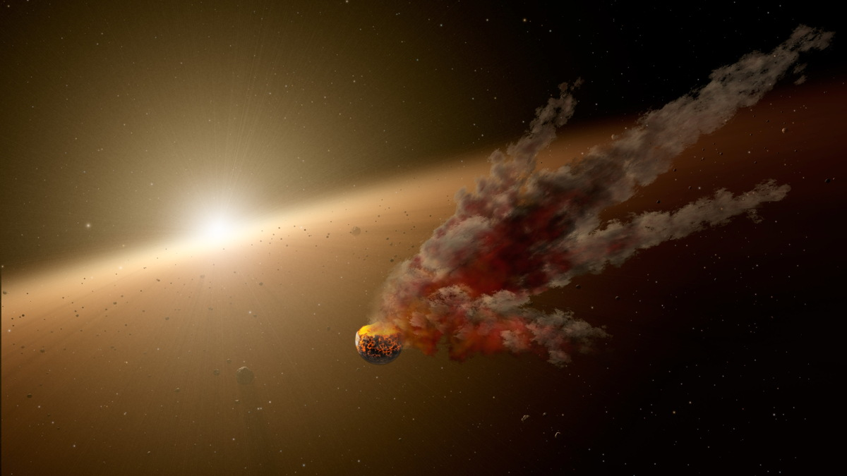 Smash! Aftermath of Colossal Impact Spotted Around Sunlike Star