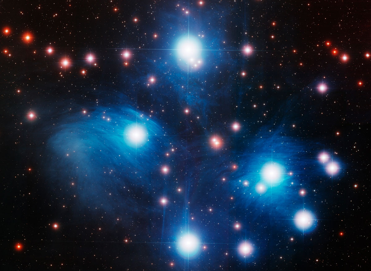 How Far, the Stars? Quasars Solve 'Seven Sisters' Star Cluster Mystery