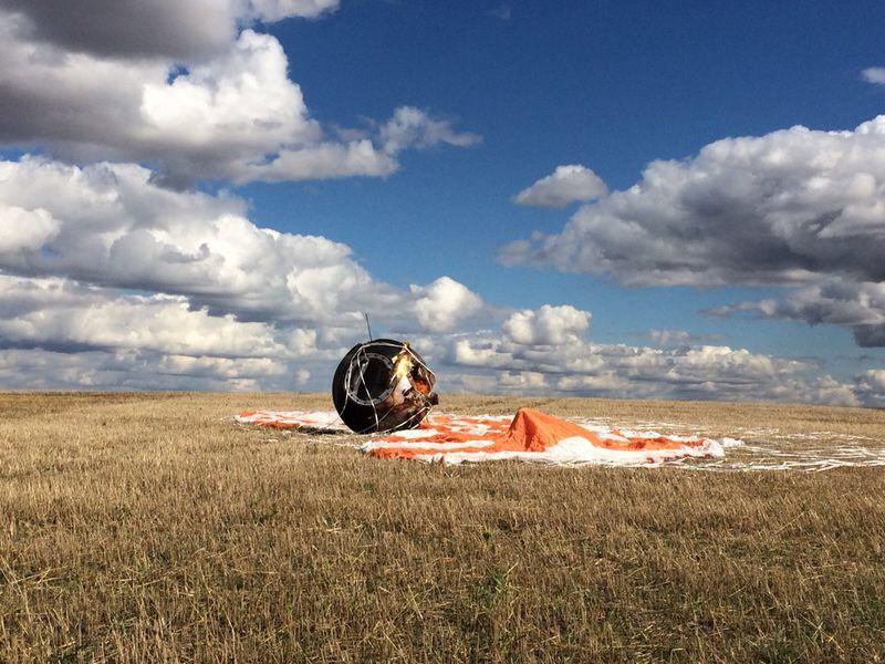 Russia's Foton M4 Satellite Landing