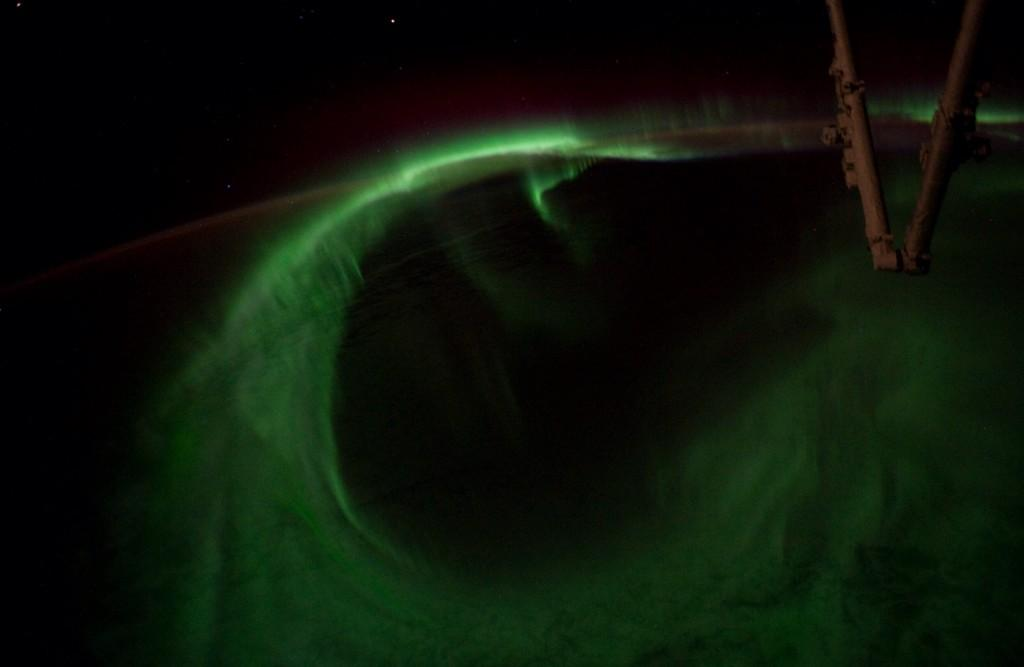 Aurora Loop Seen from the International Space Station