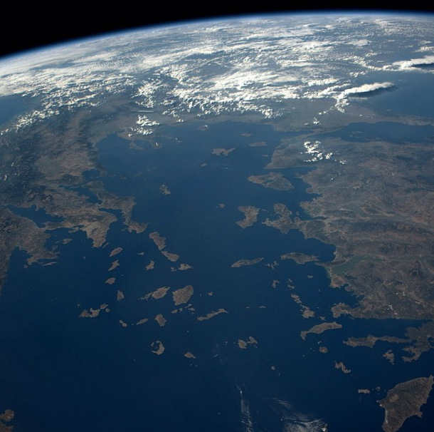 Greece and Turkey Seen from the ISS