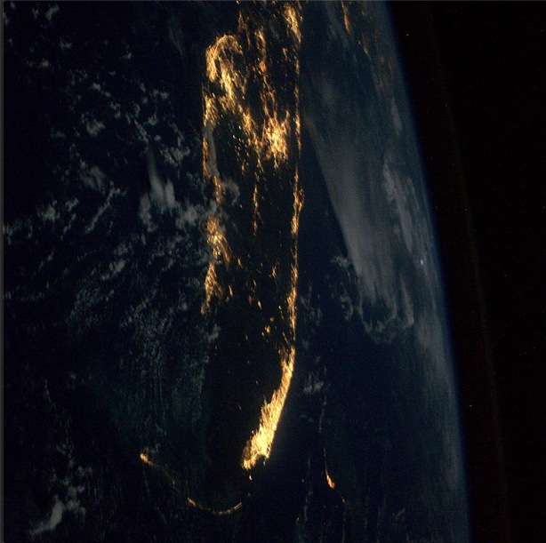 Florida by Night as Seen from the ISS