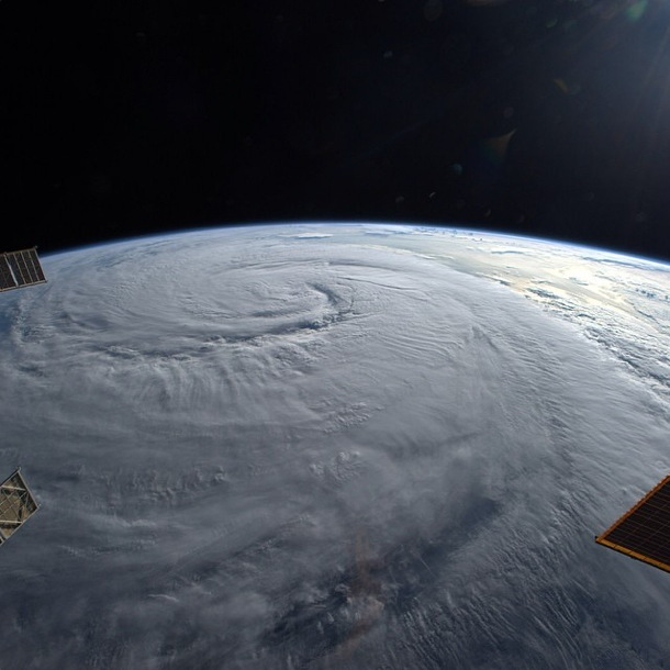 Typhoon Seen from the ISS