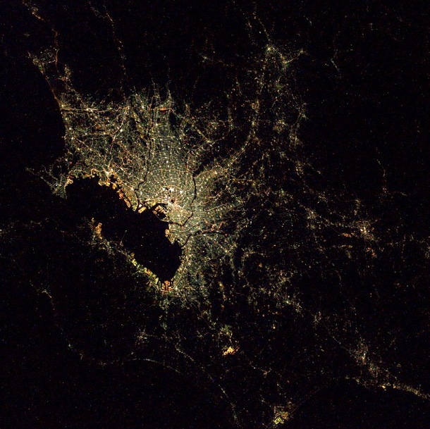 Tokyo by Night Seen From the ISS