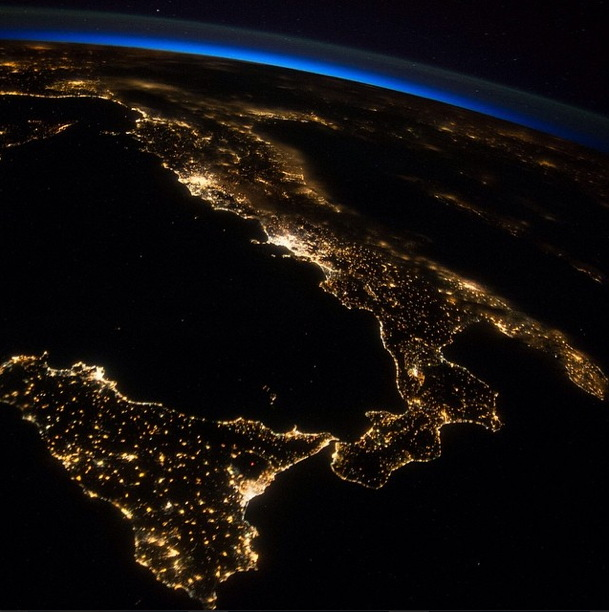 Sicily and Italian Peninsula Seen From the ISS