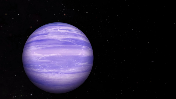 Astronomers have detected traces of water ice clouds in the atmosphere of the brown dwarf WISE 0855, a misfit failed star about 7.2 light-years from Earth. The discovery is the first time water ice clouds have been found beyond the solar system, scientists say.