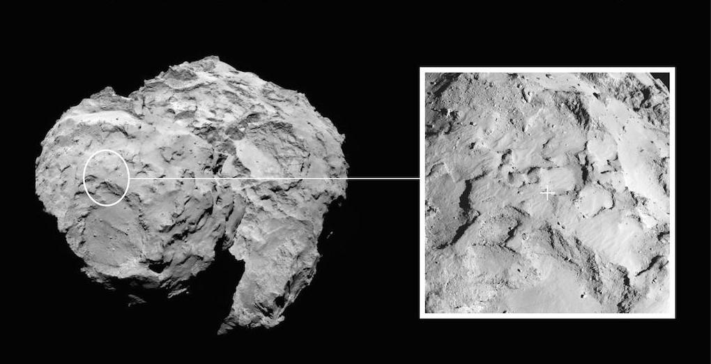 Europe Unveils Comet Landing Site for Historic Rosetta Mission