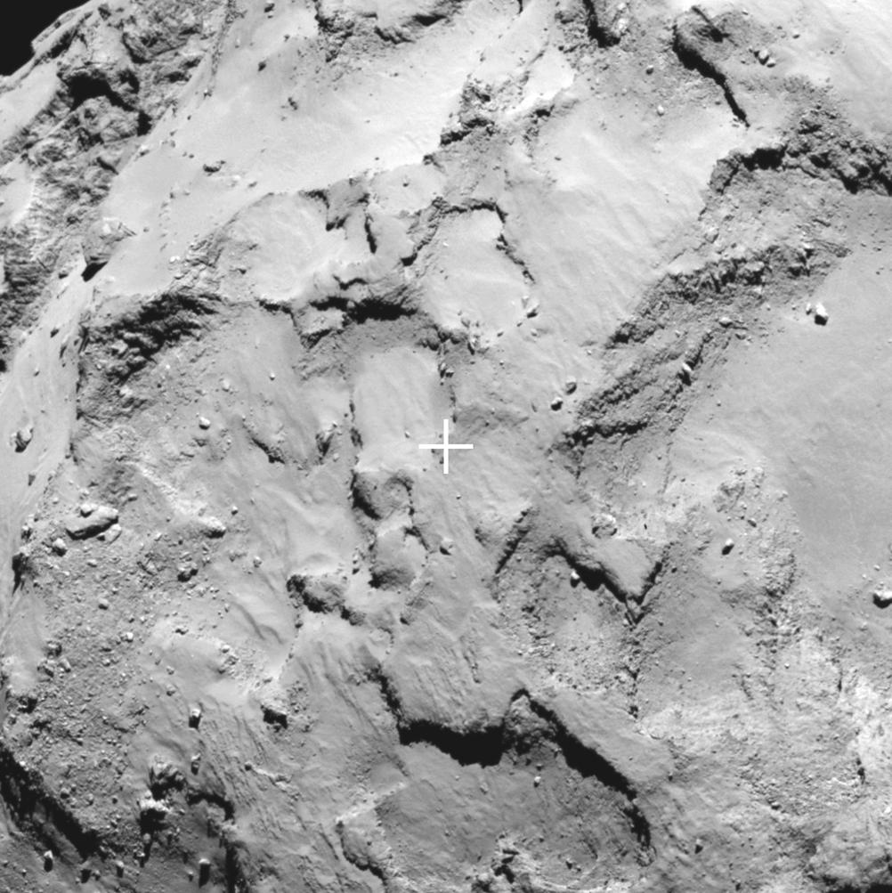 Comet 67P Landing Site Near Comet Head