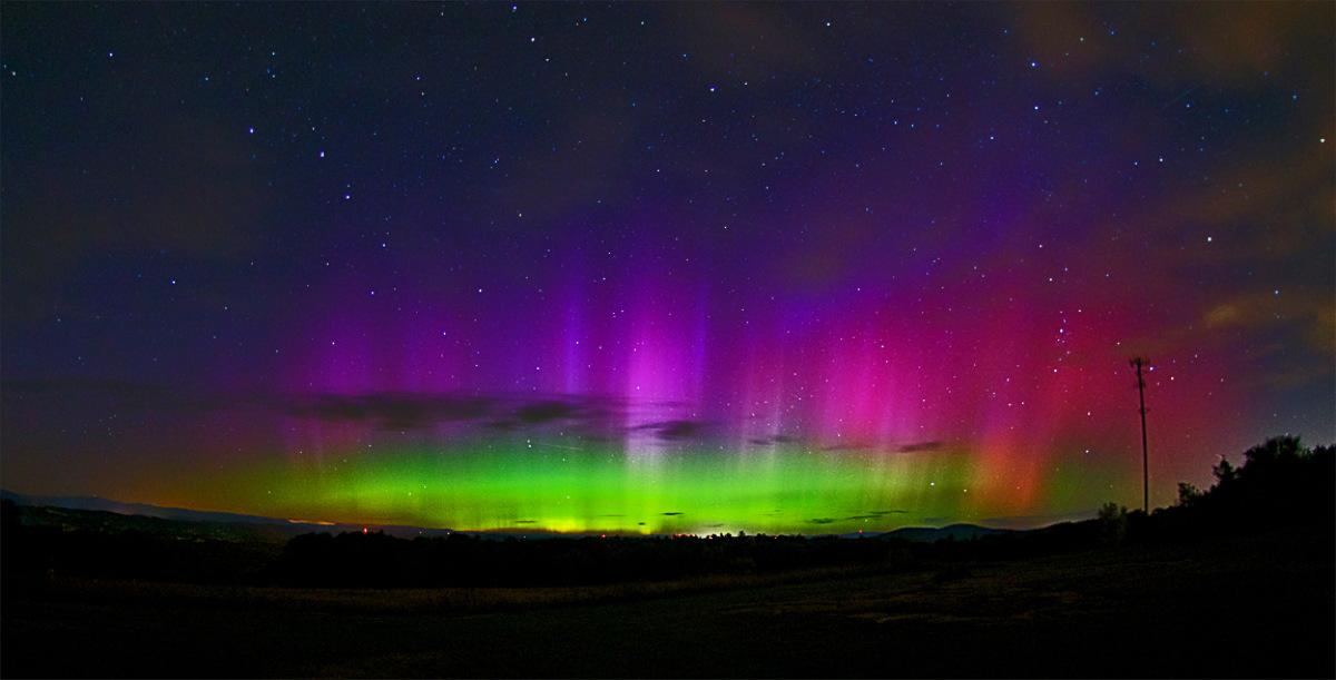 Aurora Seen in Quaker Ridge, Casco, Maine