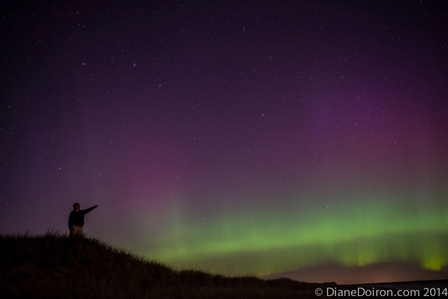 Northern Lights Seen in Pointe-Sapin, NB, Canada