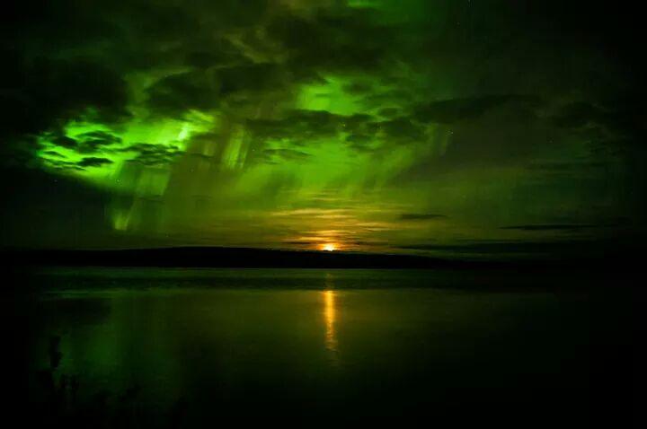 Aurora Seen Near Lorraine Lake in Western Labrador, Canada