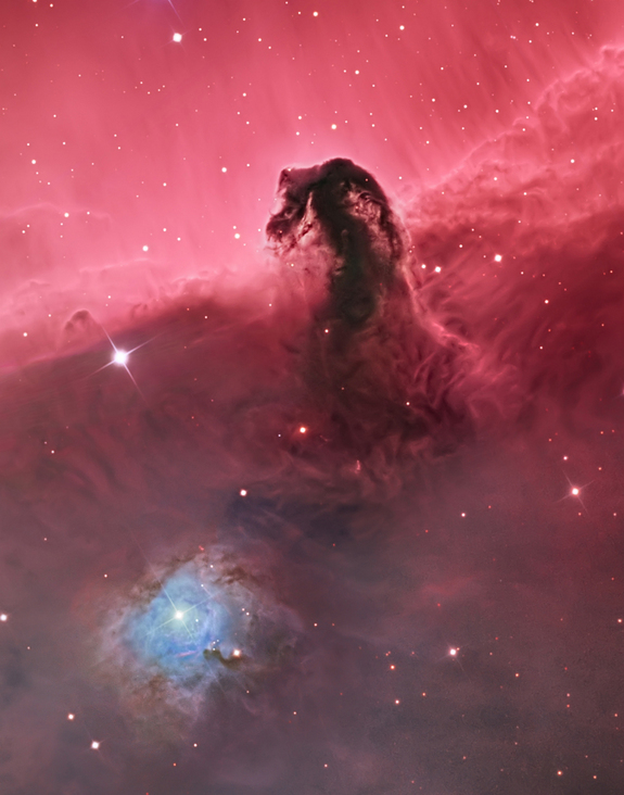 The Horsehead Nebula shines in this stunning view of the star-forming region taken from the United States. Sept. 18, 2014.