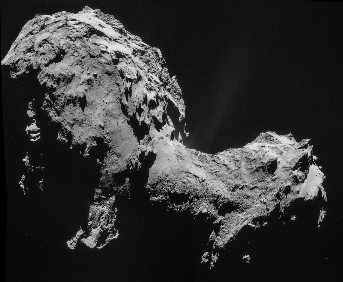 Comet 67P on Sept. 19, 2014