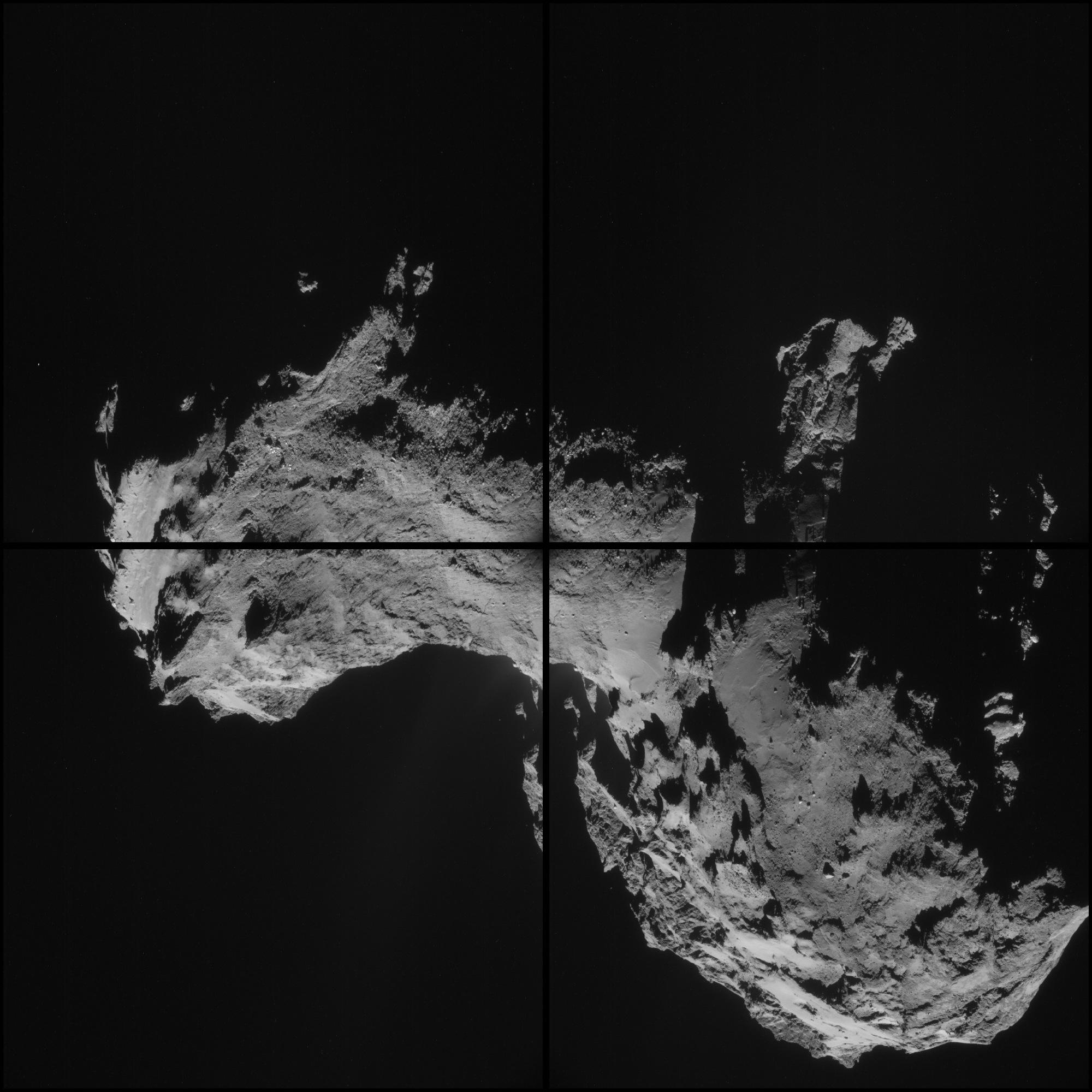 Four-Image Montage of Comet 67P/C-G
