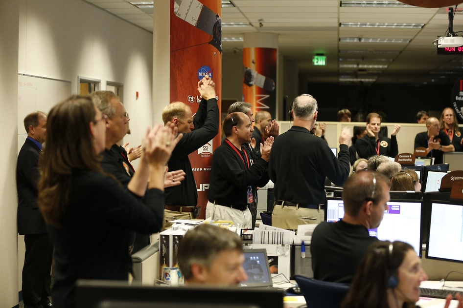 MAVEN Team Celebrates Mars Arrival