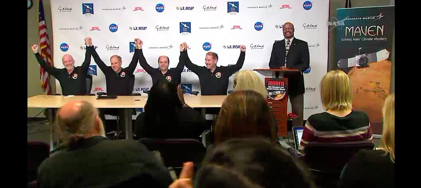 NASA Celebrates MAVEN Probe's Mars Arrival