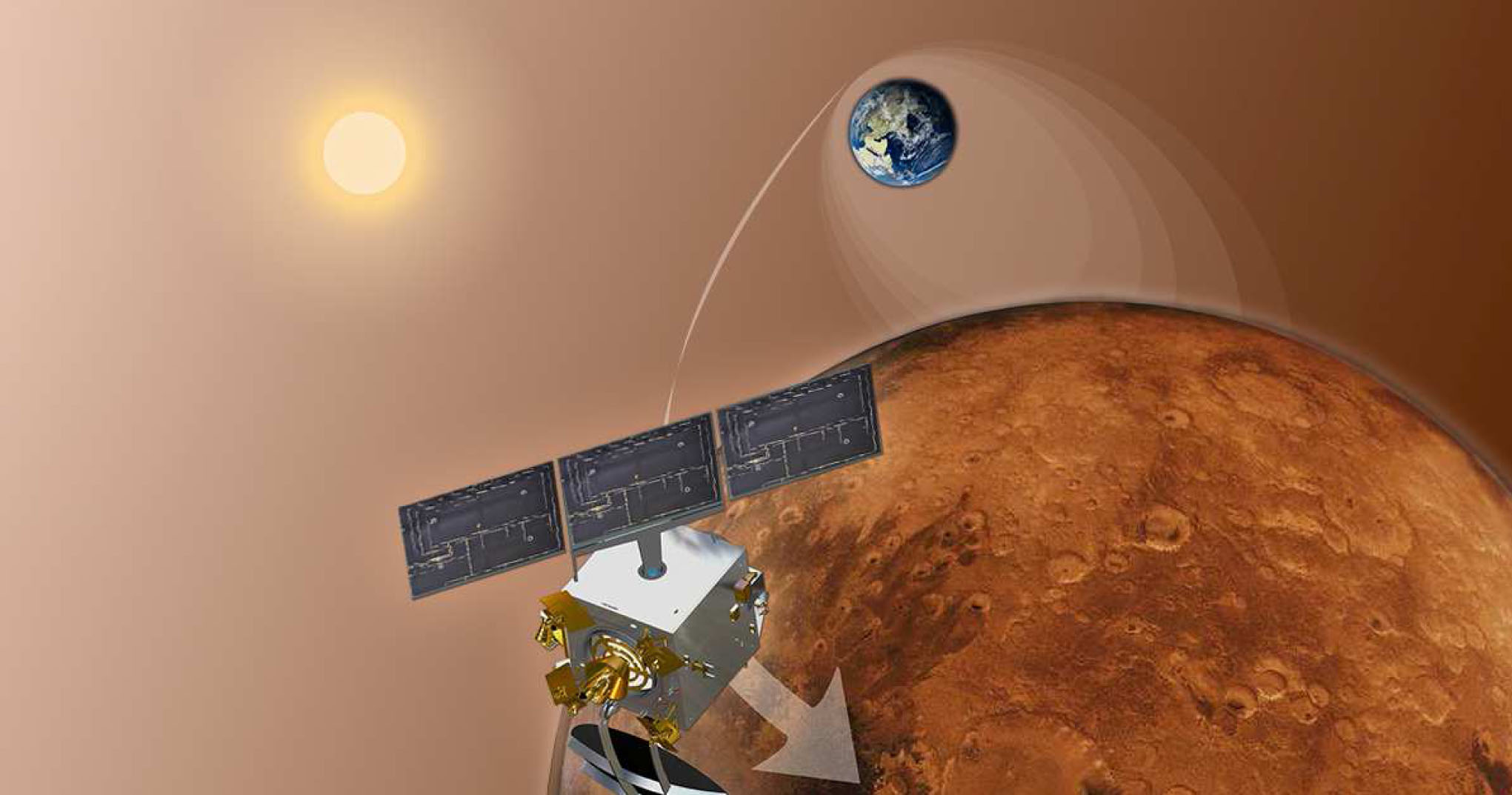 India Mars Orbiter Mission Art