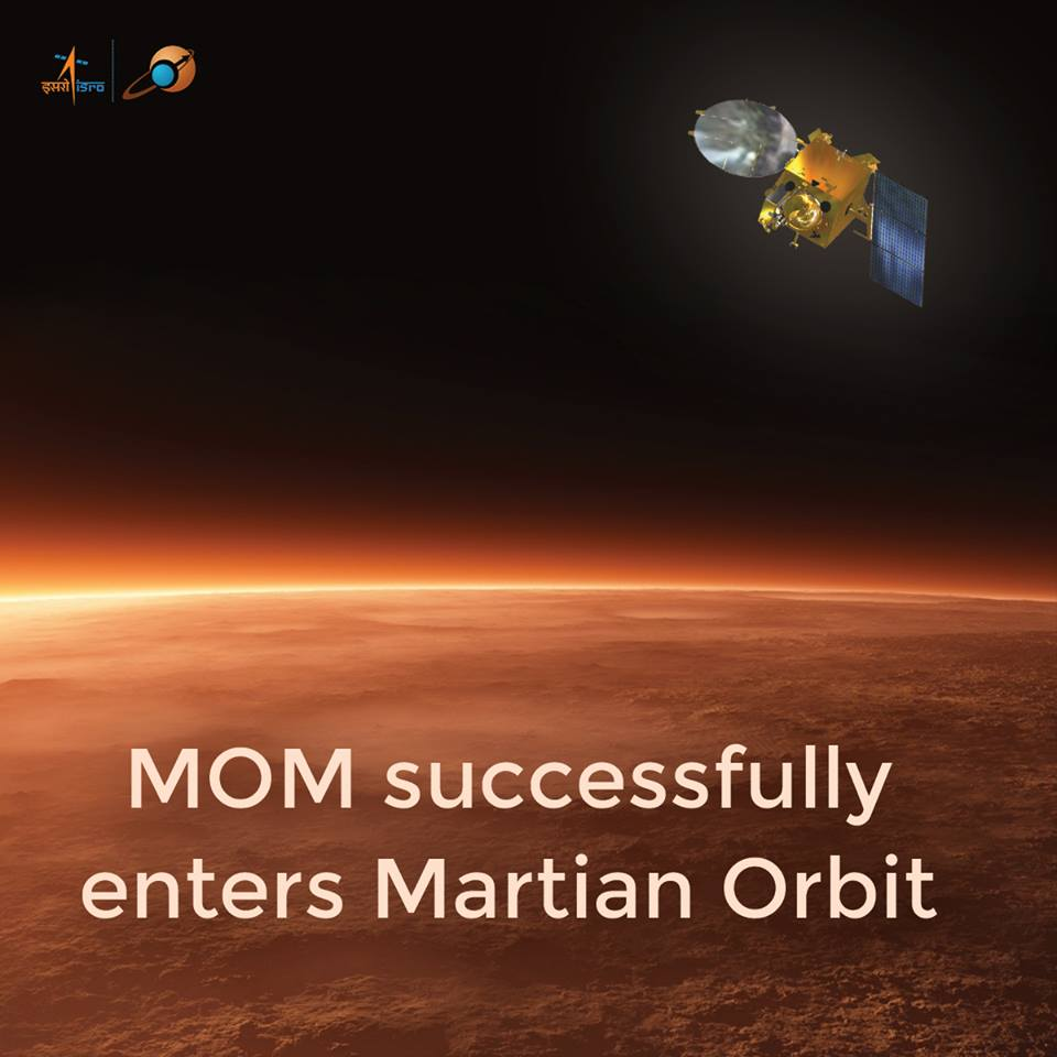 India's Mars Orbiter Mission Reaches Mars