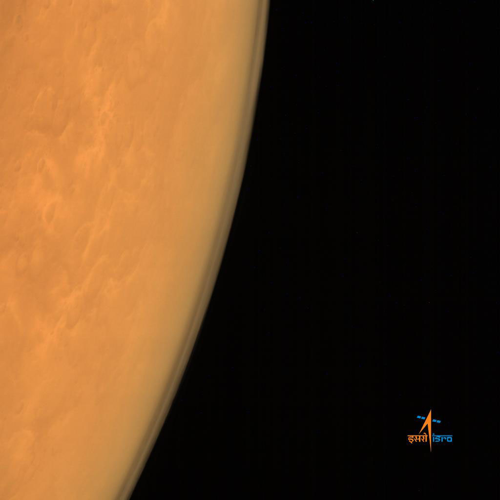 Indian Spacecraft Captures Its First Photos of Mars