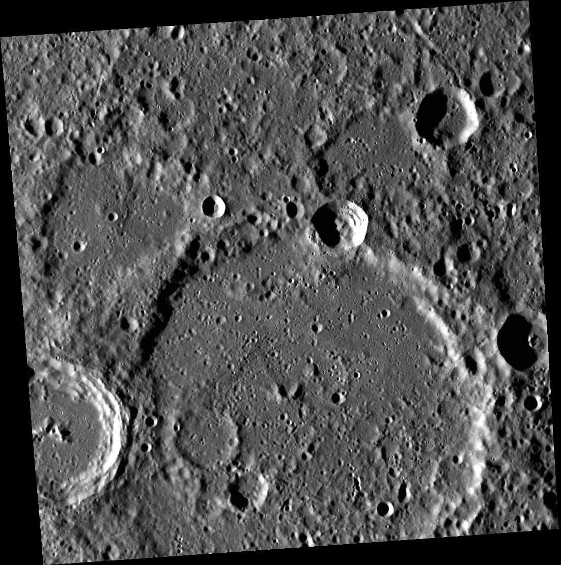 Crater Li Po on Mercury