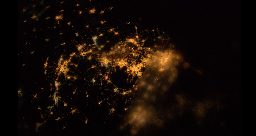 Shanghai at Night from ISS
