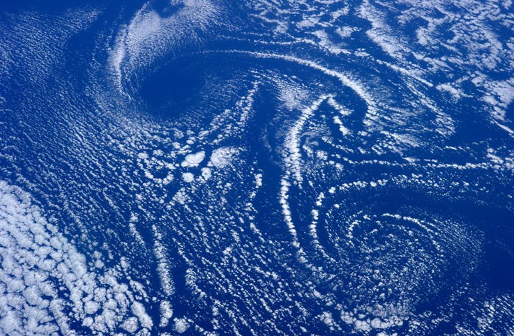 Cloud Vortex from ISS