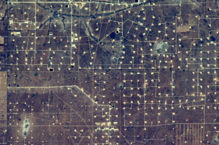Oil Fields in Texas from ISS