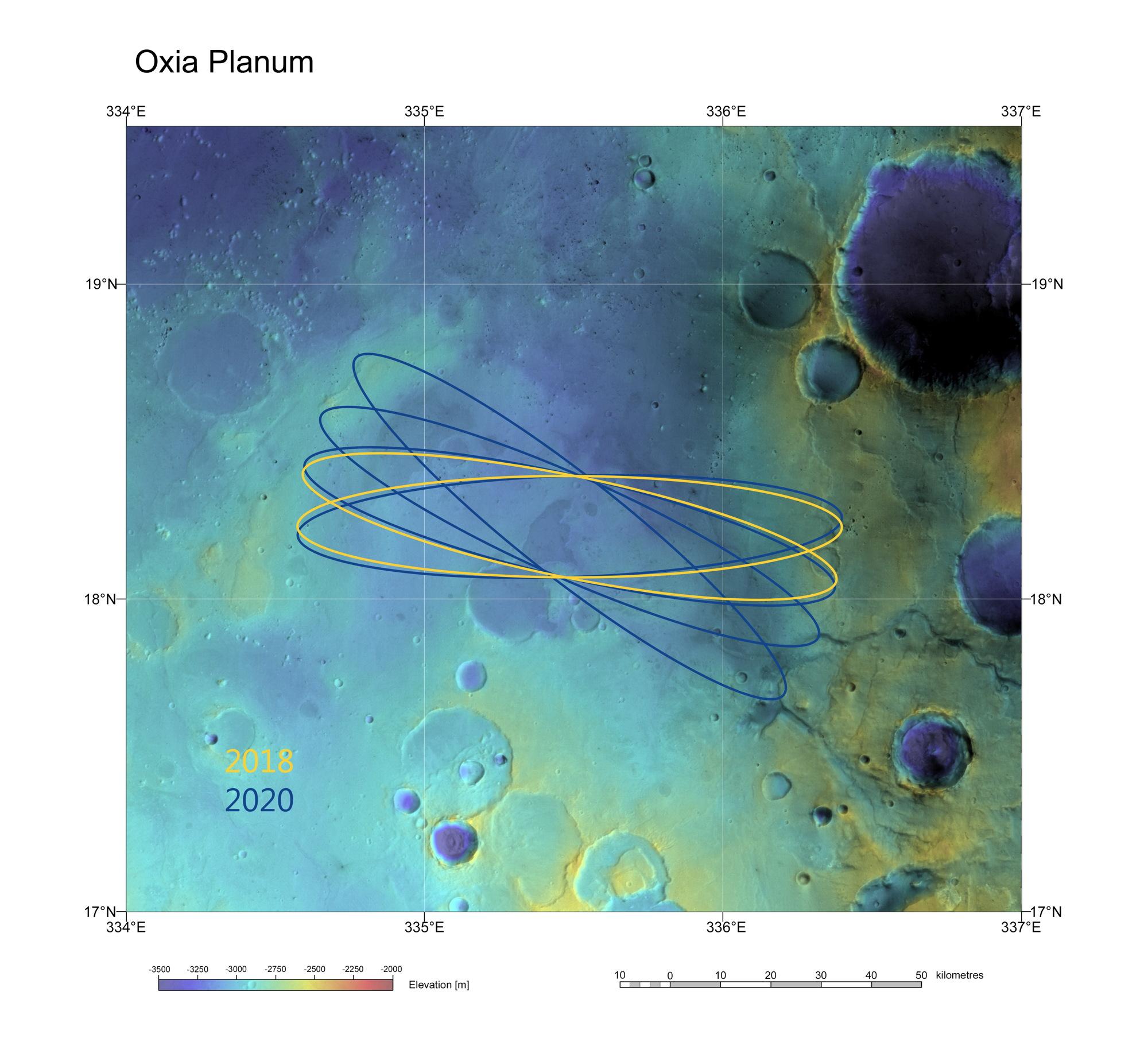 ExoMars Candidate Landing Site Oxia Planum