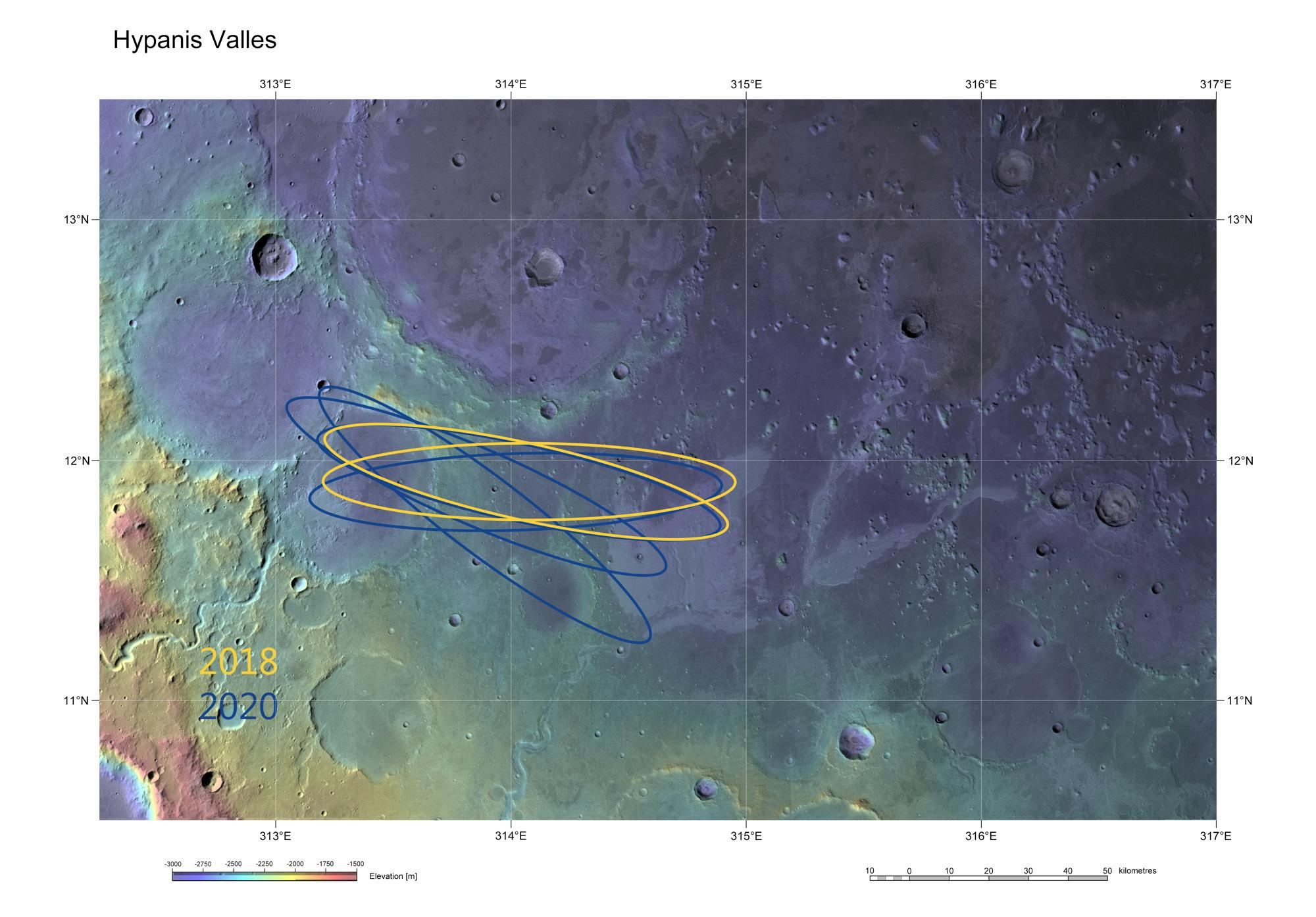 ExoMars Candidate Landing Site Hypanis Vallis