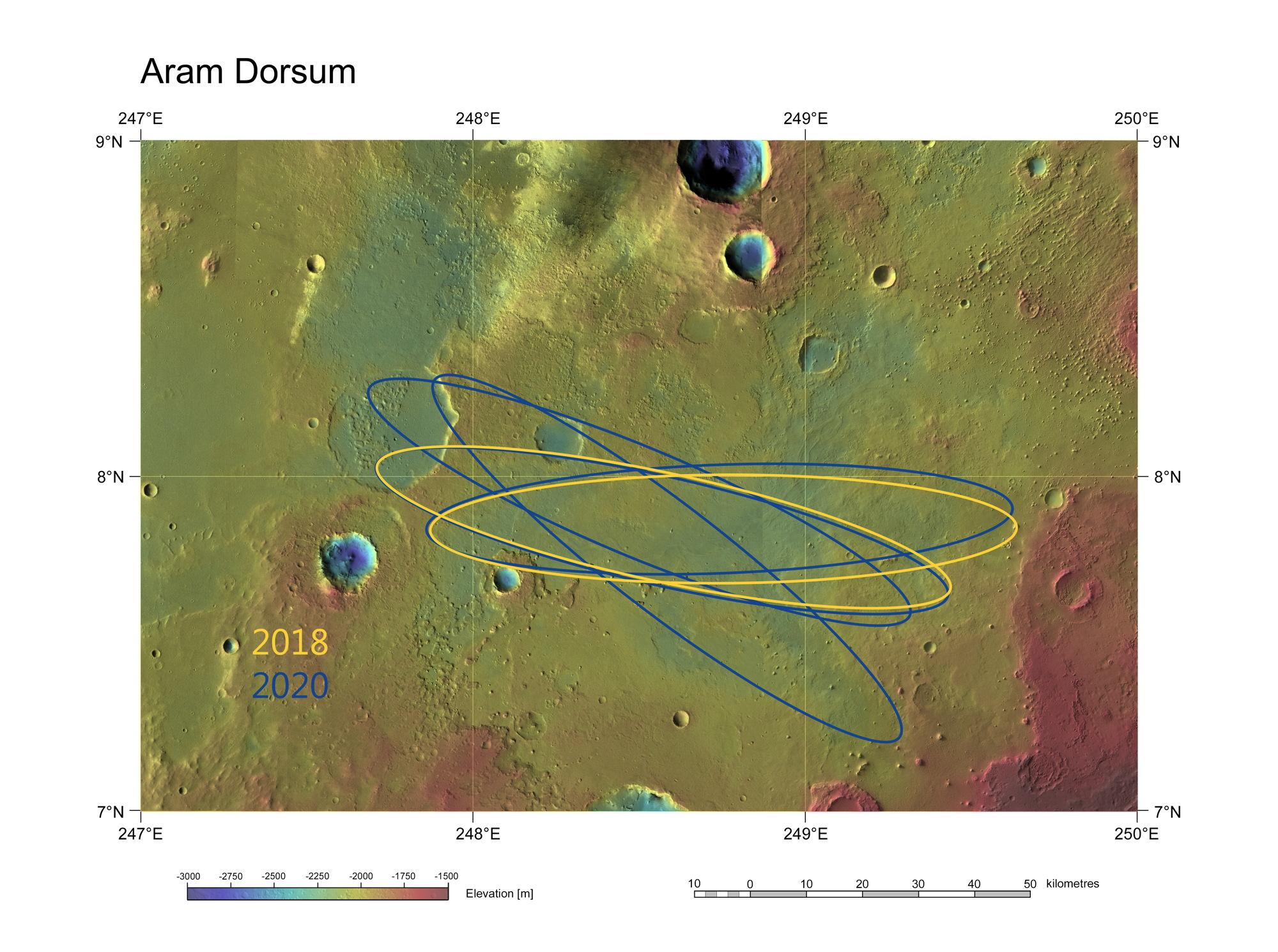 ExoMars Candidate Landing Site Aram Dorsum
