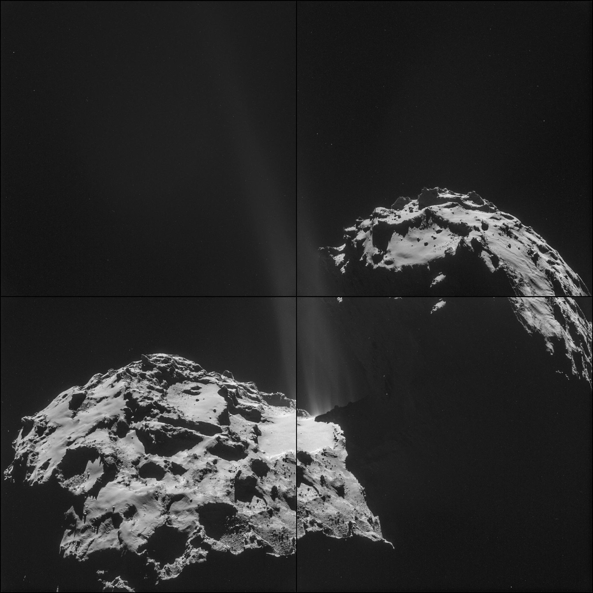 Rosetta Spacecraft's Comet Companion Is Spouting Jets (Photo) Rosetta