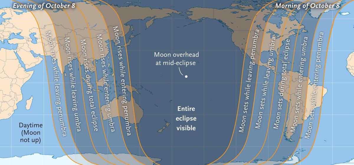Oct. 8 Lunar Eclipse Visibility