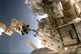 NASA's Reid Wiseman and European Space Agency astronaut Alexander Gerst performed a spacewalk outside the International Space Station on Oct. 7, 2014.