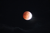 Scott Gauer captured this photo of the blood moon peaking through clouds in Pennsylvania on Oct. 8, 2014.