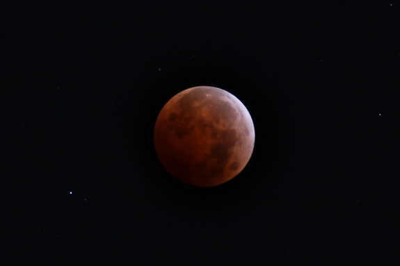 Thomas Warloe snapped this image from California during the total lunar eclipse of Oct. 8, 2014.