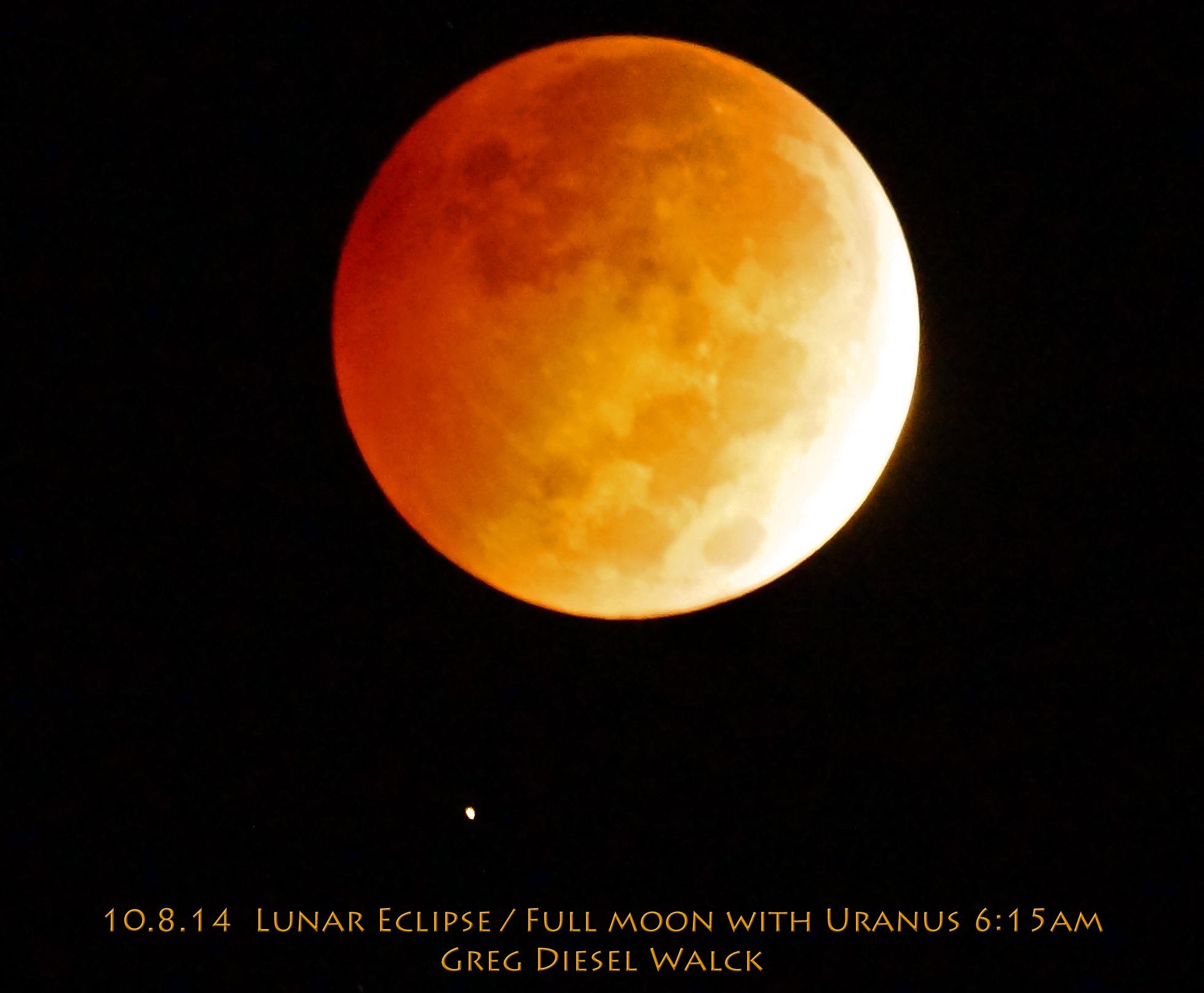 Total Lunar Eclipse and Uranus