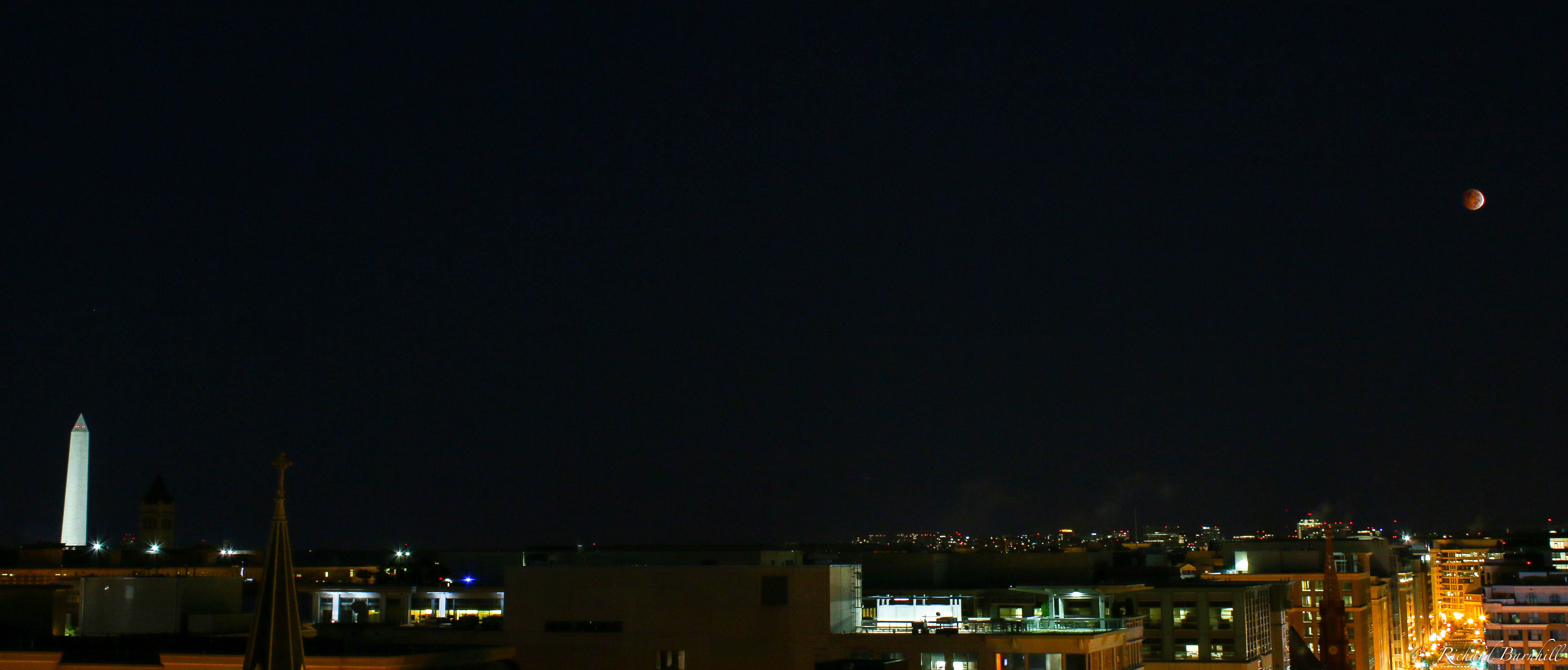 Lunar Eclipse and Washington Monument
