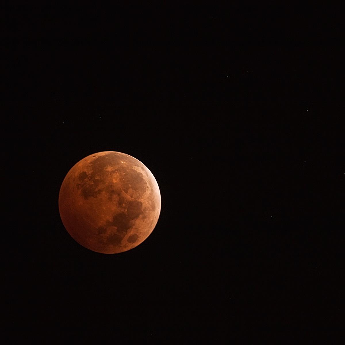 Oct. 8, 2014, Lunar Eclipse Seen in Costa Mesa, CA