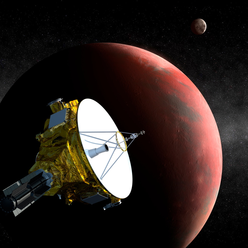 New Horizons Probe Flying Past Pluto
