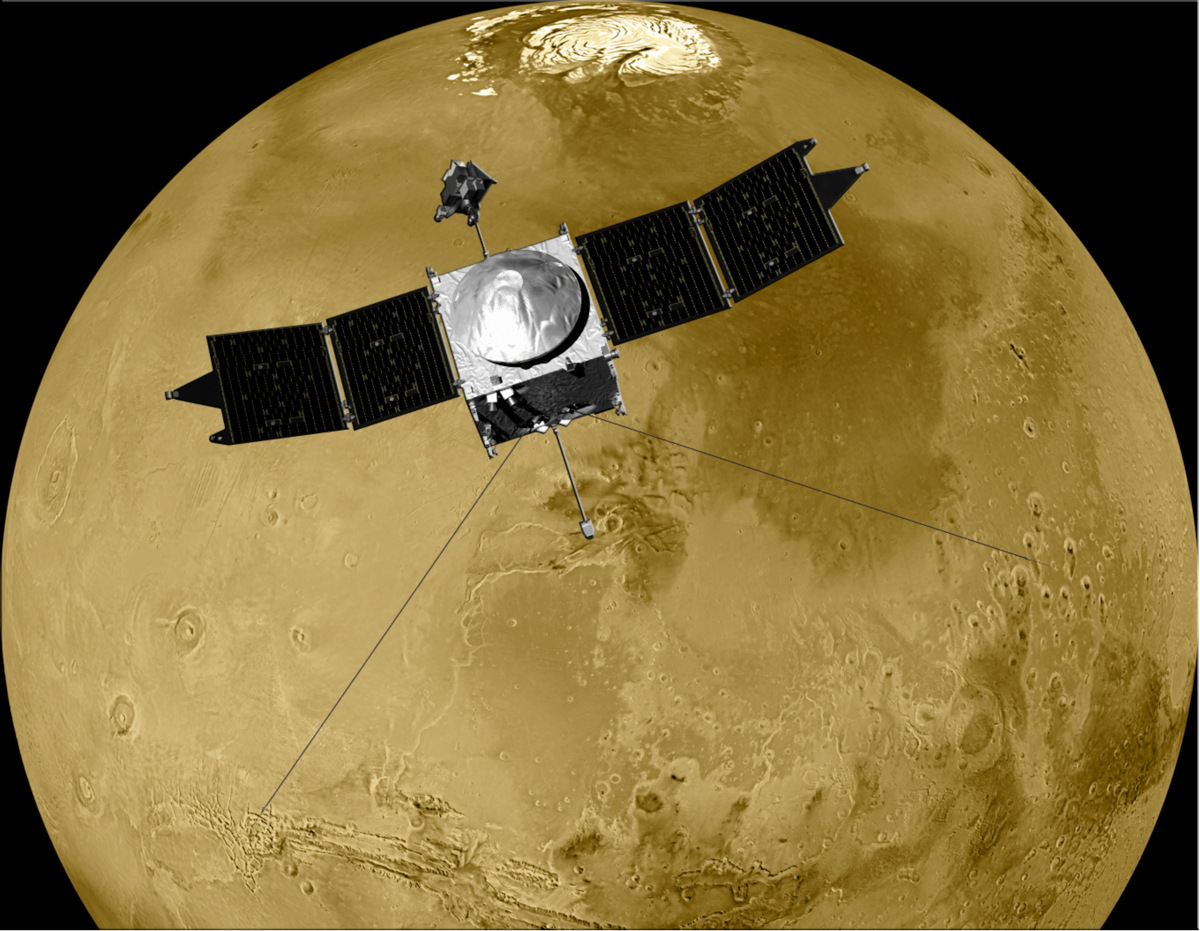Artist's Rendition of MAVEN at Mars