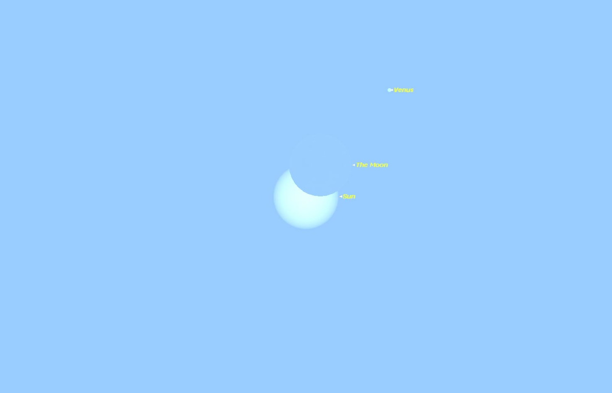 Partial Solar Eclipse as Seen in Los Angeles, CA, on Oct. 23, 2014