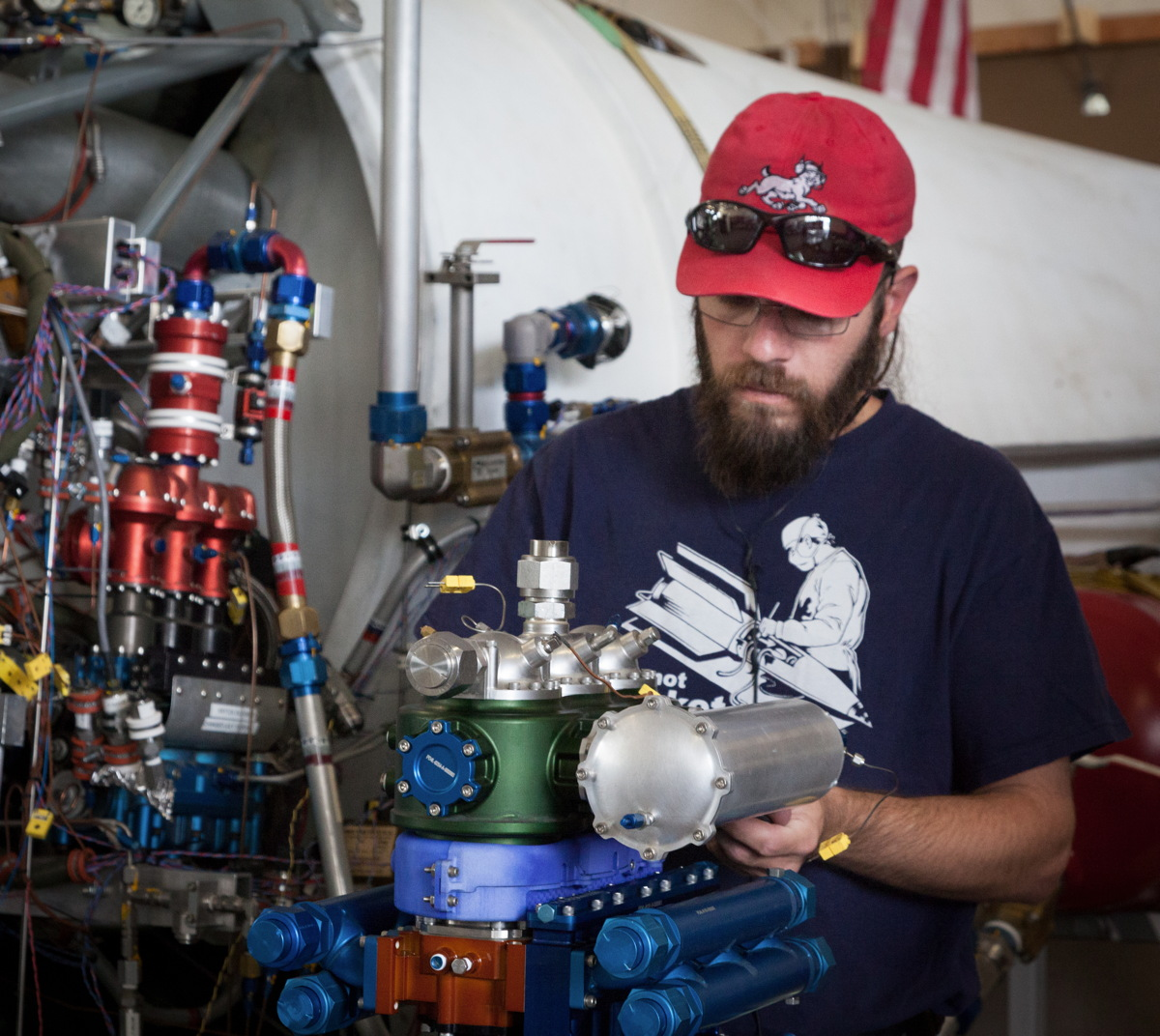 Technician Prepares XCOR LOX Pump