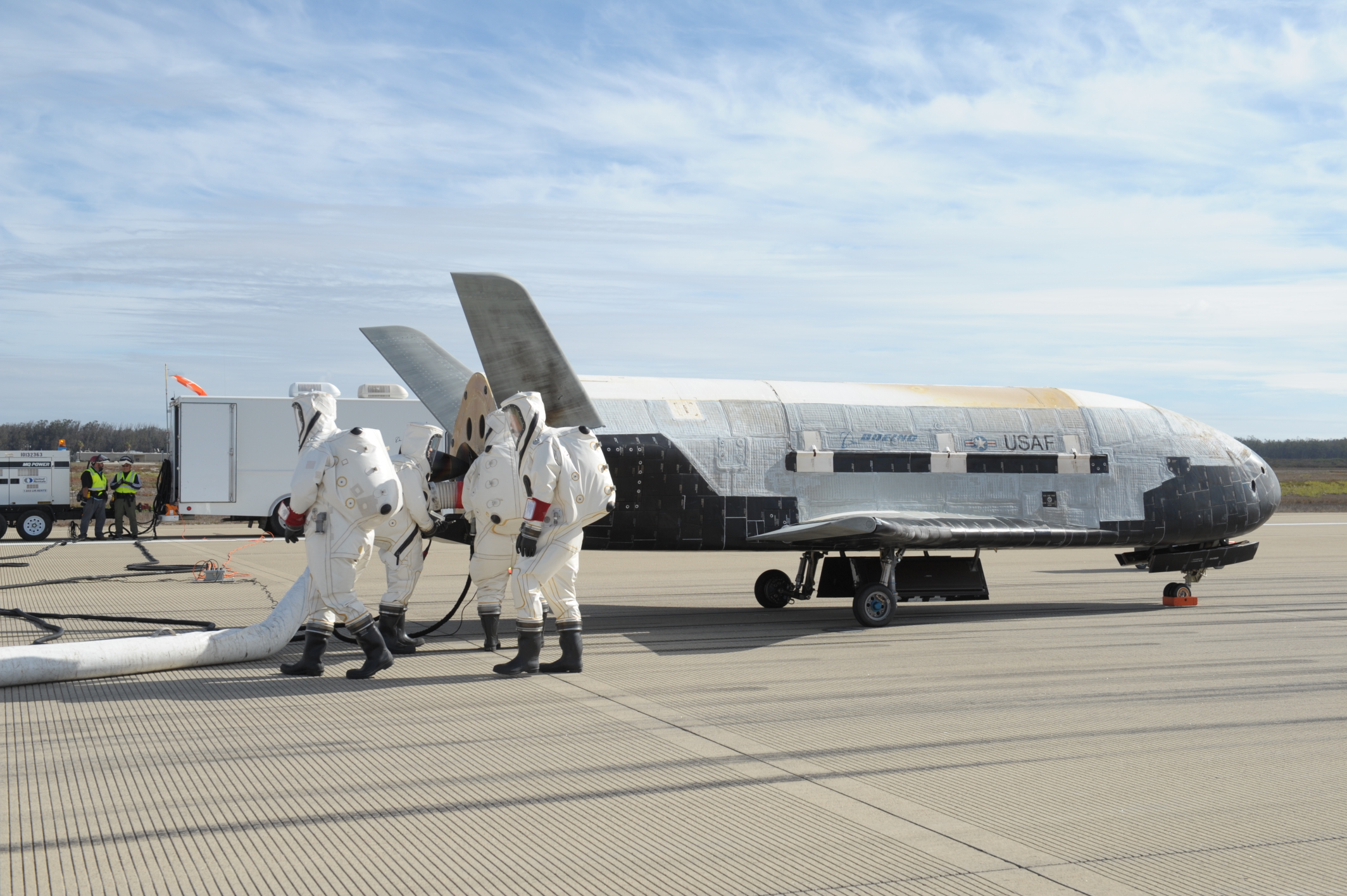 X-37B Space Plane Recovery Crew