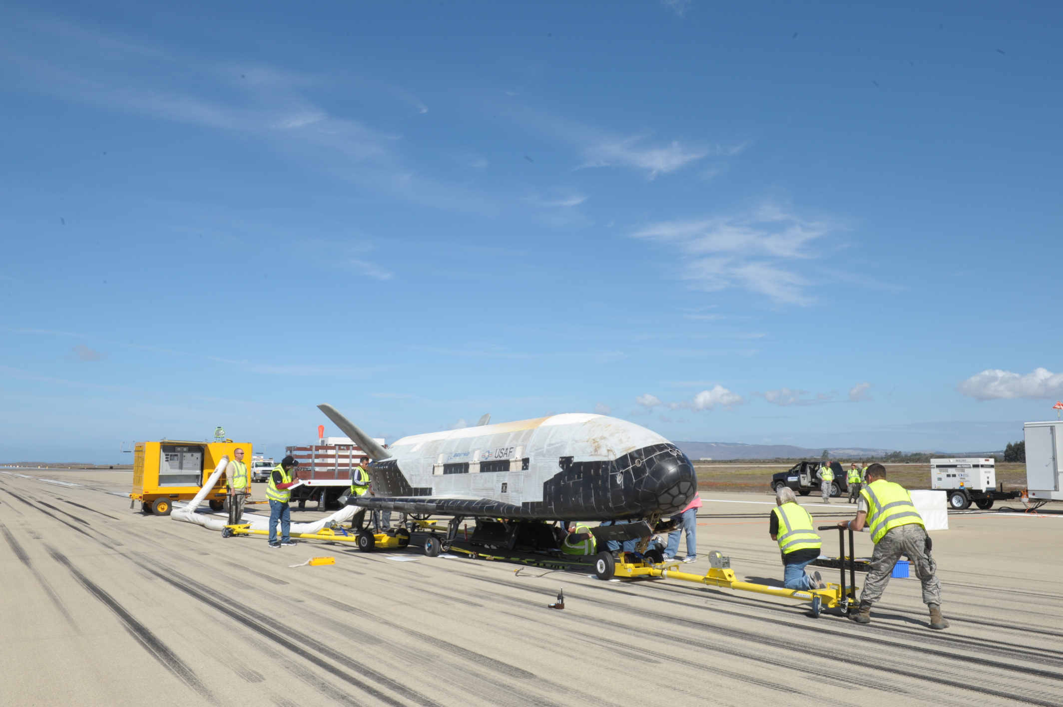 X-37B Space Plane at Vandenberg: OTV-3