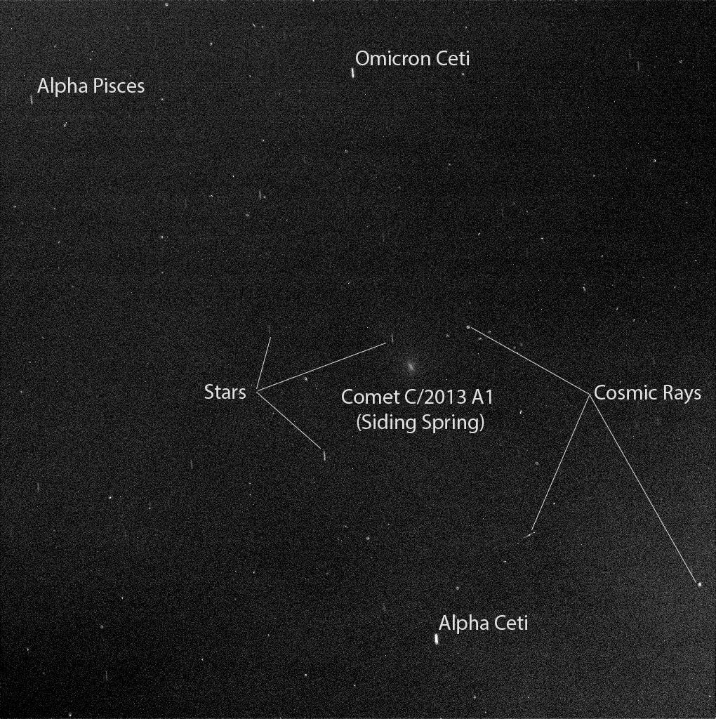 Mars Rover Opportunity's View of Comet Siding Spring