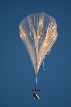 Alan Eustace was carried into the stratosphere with a high-altitude scientific balloon.