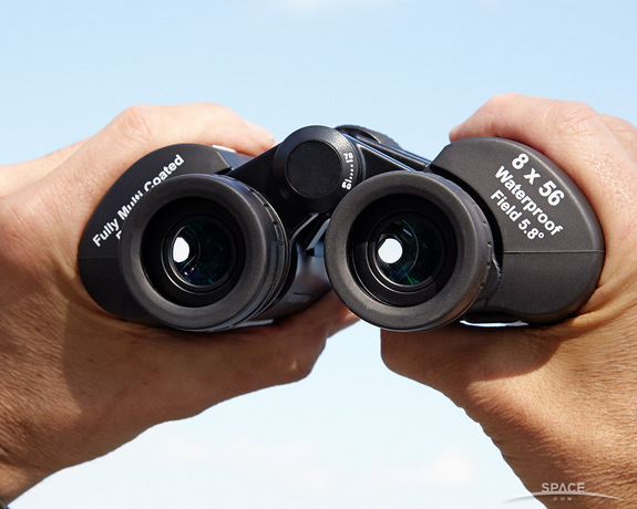 "Exit Pupils are the small disks where the images form, ready to enter your eyes. <a href=""http://store.space.com/celestron-skymaster-8x56-binoculars.html?&ICID=SPACE-best-binoculars-image-2014-10-23"">BUY these Celestron SkyMaster 8x56 binoculars >>></a>"