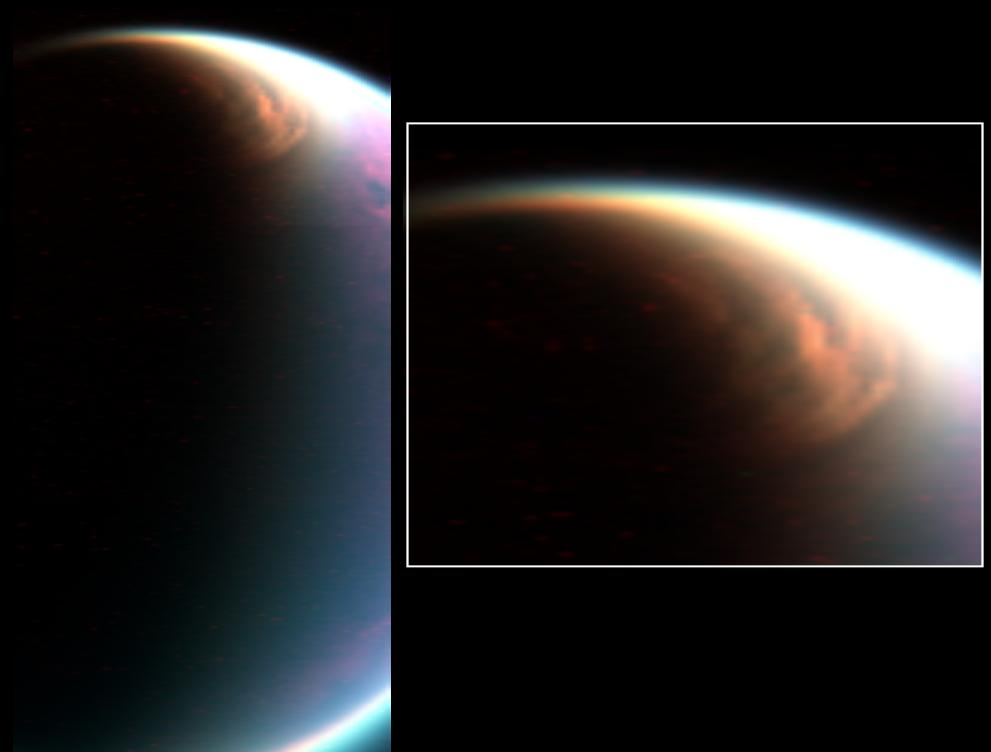 Surprise! Methane Ice Cloud Floats High Above Saturn's Moon Titan