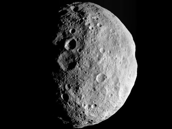 This image of the giant asteroid Vesta was captured by NASA's Dawn spacecraft on Sept. 5, 2012.