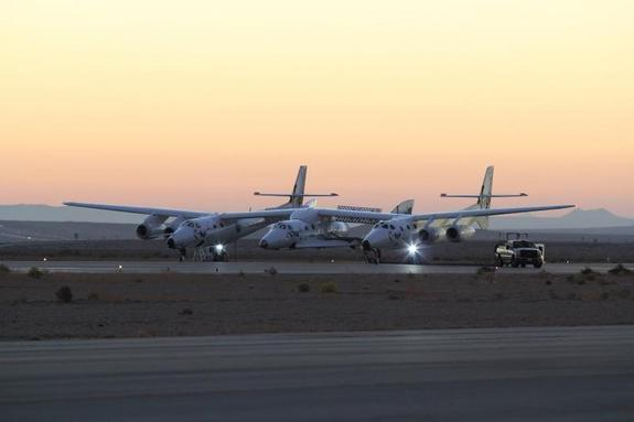 Virgin Galactic's passenger spacecraft SpaceShipTwo (attached to its WhiteKnightTwo carrier) crashed in Mojave, California after a serious accident during the craft's fourth rocket-powered test flight on Oct. 31, 2014. One pilot was killed and another injured in the crash.